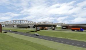 Pedestrian bridge connecting the cities of Beavercreek and Fairborn, Ohio