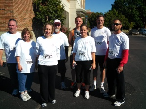 LJB employees at a 5K event.