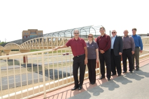 Members of the LJB project team at the ribbon cutting ceremony.