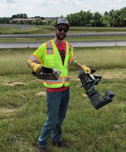 Eddie Drow participates in highway cleanup as part of ODOT's Adopt-a-Highway Program